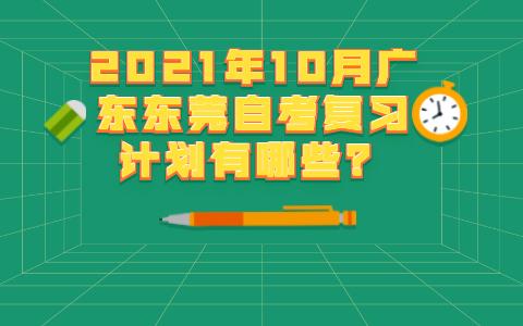 广东东莞自考复习计划